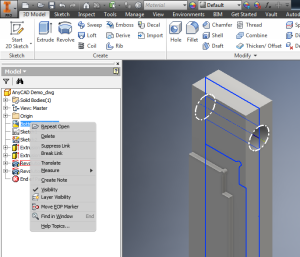 Autodesk Inventor - AnyCAD - DWG Options